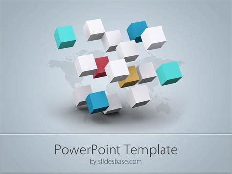3d Business Cubes Powerpoint Template Slidesbase Power Point Templates