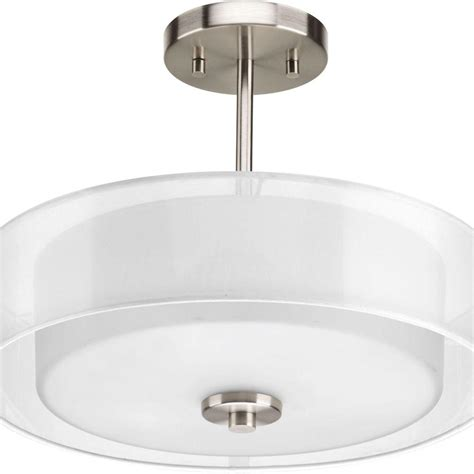 progress lighting calven collection 4 light brushed nickel bath light p3236 09wb the home depot progress lighting invite collection 3 light brushed nickel semi flushmount p3694 09 the home depot