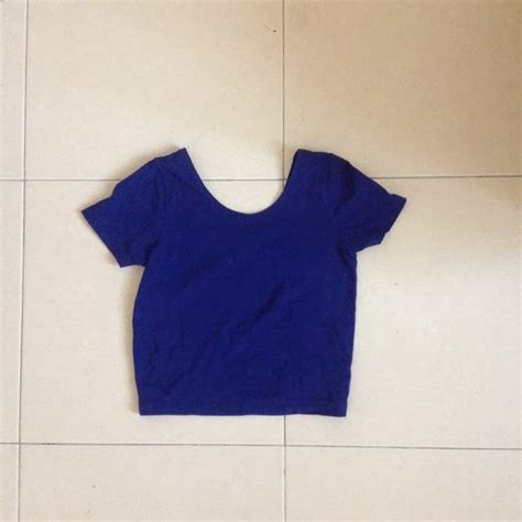 Preloved Blue Top preloved by f21 electric blue crop top