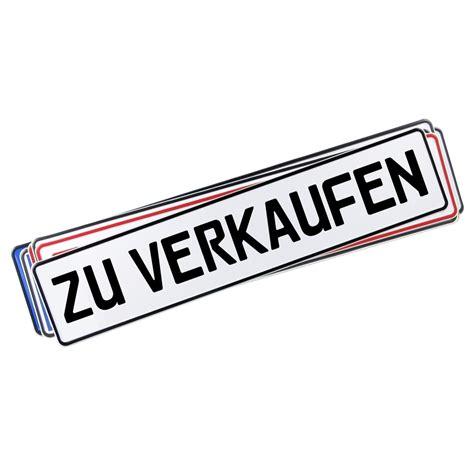 Zu Kaufen by Miniletter Werbeschild Kennzeicheneinleger Zu Verkaufen