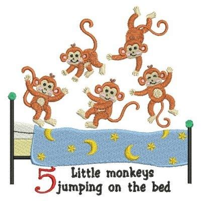 five little monkeys jumping 0547896913 five little monkeys embroidery designs machine embroidery designs at embroiderydesigns com