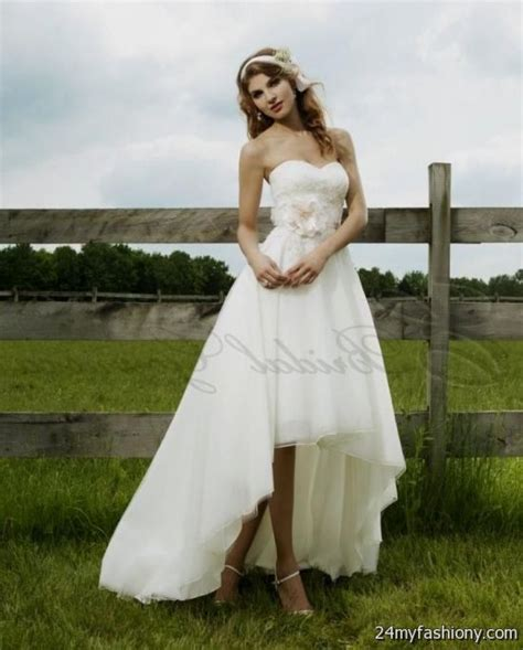Wedding Dresses With Boots by High Low Wedding Dresses With Cowboy Boots 2016 2017 B2b