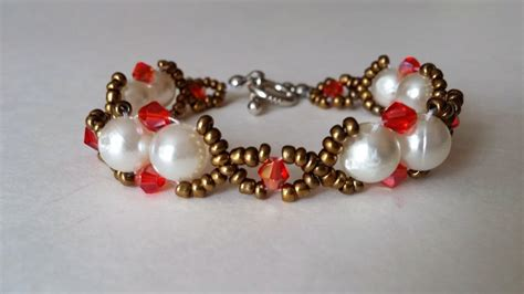 simple beaded bracelets to make easy bracelet tutorial how to make an pearl and