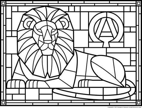 Stained Glass Coloring Page free coloring pages of stained glass