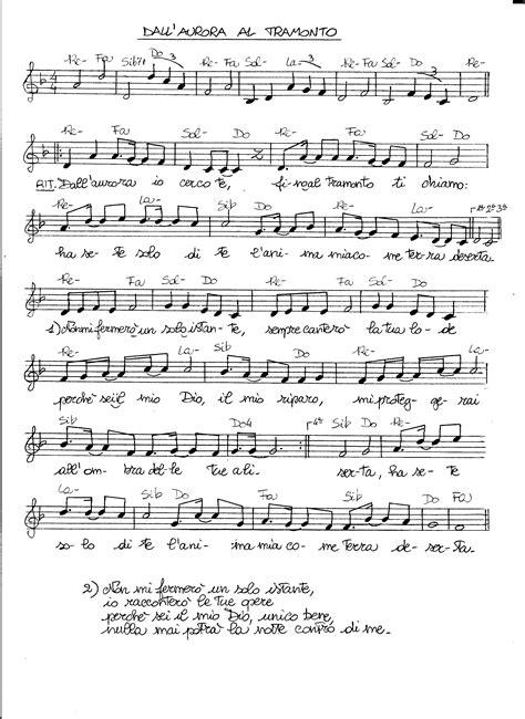 testo gloria giombini spartiti dei canti