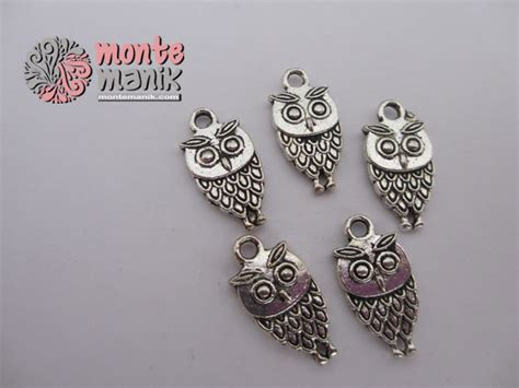 Bahan Baku Aksesoris Craft Murah Bunga Mawar Satin charm owl ala 04 montemanik pusat bahan dan
