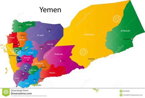 map of yemen cities yemen map stock vector illustration of asian patriotic