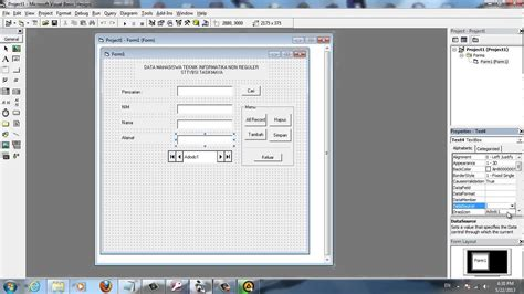 tutorial visual basic microsoft excel tutorial koneksi ms access ke visual basic 6 0 adodc