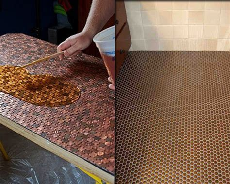 Pleasing A Man In Bed Diy Copper Penny Floor Interiorholic Com