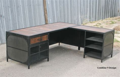 vintage industrial desk l buy a crafted vintage industrial desk w