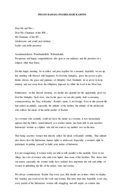 contoh biografi kartini dalam bahasa inggris pidato bahasa inggris hari kartini