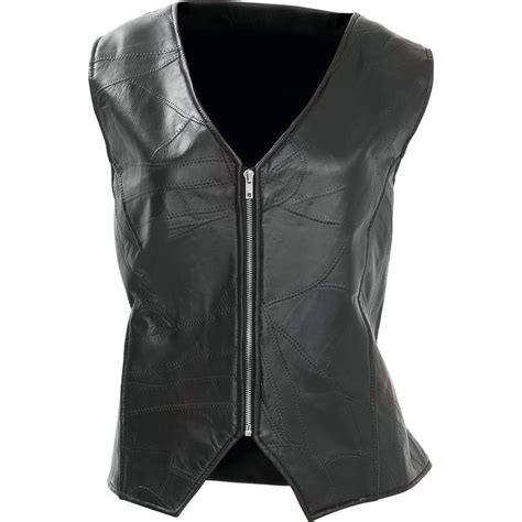 Vest Rompi Zipper Wings leather wing vest with laced back 3x gfvlaw3x