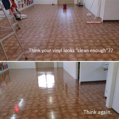 How To Clean Vinyl Floors With Vinegar vinyl floor clean before afters