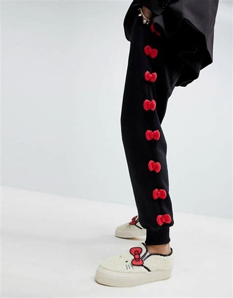 Jogger Motif asos hello x asos bow jogger with peeping motif