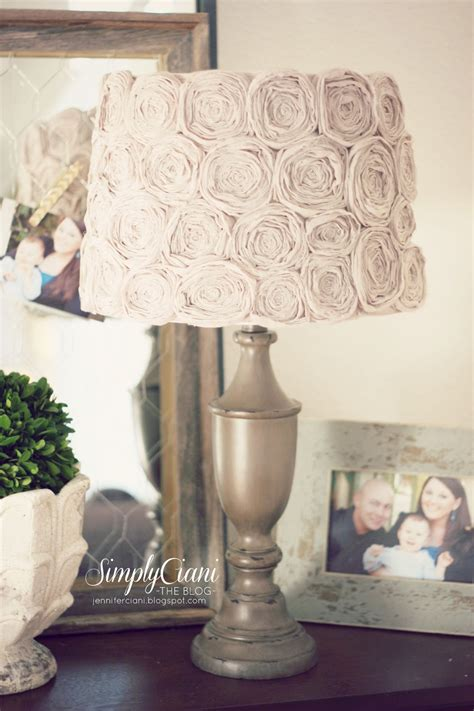 Decorated L Shade Ideas by Diy Shabby Chic Rosette L Shade Simply Ciani