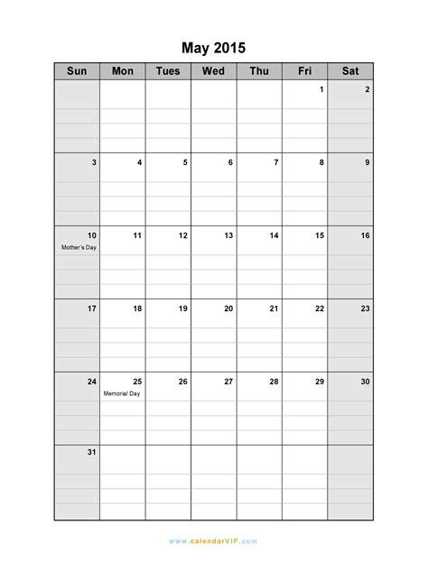 May 2015 Calendar Printable 7 Best Images Of Printable Blank 8 X 11 Calendar Grid