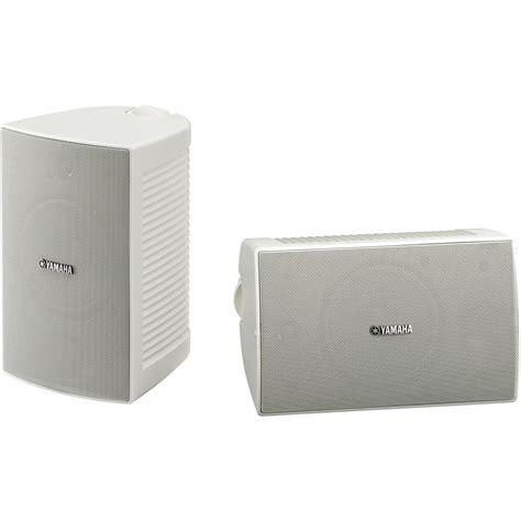 yamaha high performance outdoor speaker pair white
