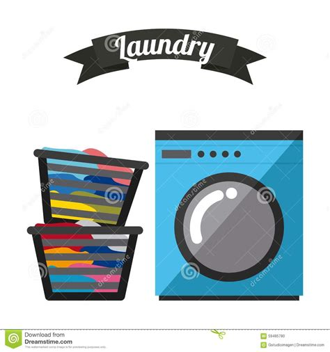 laundry web design laundry service stock vector image 59485780