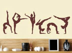 gymnastics wall murals gymnastics wall decals six dance girls sport vinyl wall