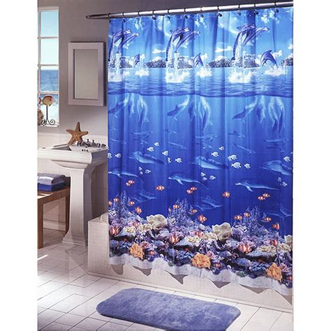 shower curtain beach theme beach themed cloth shower curtains