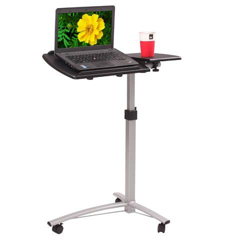 laptop desk cart adjustable angle height rolling laptop desk cart bed