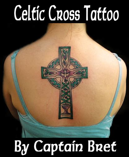 celtic cross tattoos women custom s celtic cross with tree of chalice