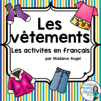 clothing themed words les v 234 tements clothing themed vocabulary activities in
