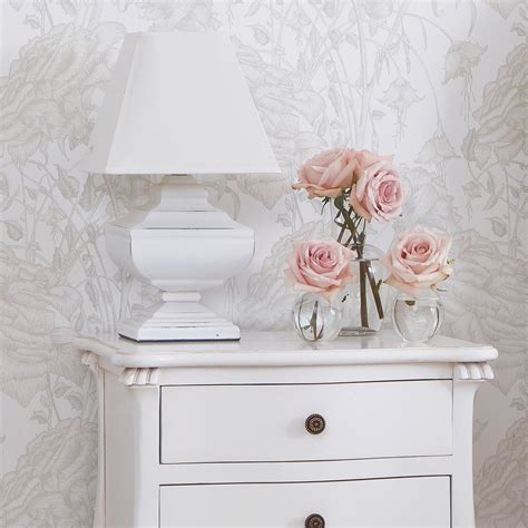 squat shabby chic white table light french bedroom company