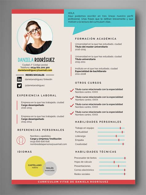 Plantillas De Curriculum On Line descarga plantillas editables de curriculum vitae cv