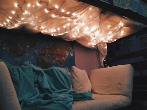 couch canopy fairy lights bedroom tumblr image 3143783 by marky on