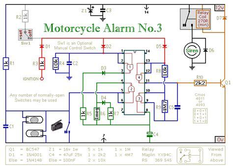 gt security gt siren circuits gt motorcycle anti theft alarm
