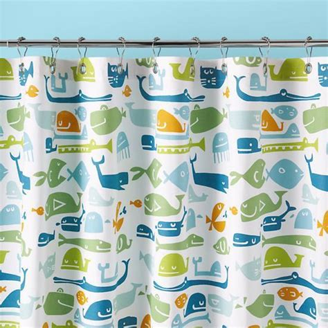 plenty of fish in the sea shower curtain the land of nod