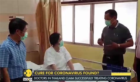 anti viral drug combo cured woman  coronavirus