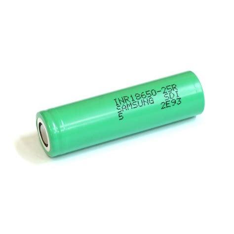 Samsung Inr 18650 25r Li Ion Battery 2500mah 3 7v With Flat Top batterie accu 25r 18650 2500 mah 35a samsung