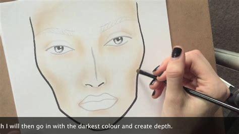 tutorial makeup shading facechart tutorial part i shading the face youtube