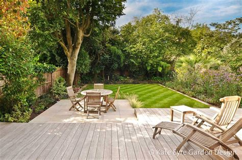 landscaping plans for backyard garden design in wimbledon south west london by kate eyre