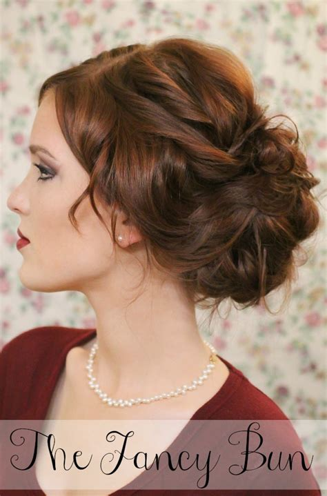 Fancy Bun Hairstyles by The Freckled Fox Hair Week The Fancy Bun