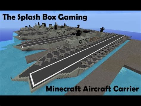 How To Make A Aircraft Carrier Out Of Paper - minecraft aircraft carrier dock ep 1