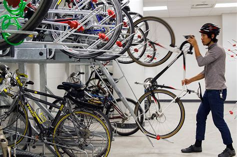 Duro Bike Rack by Dero Decker 2 Tier Bicycle Parking With Pull Trays