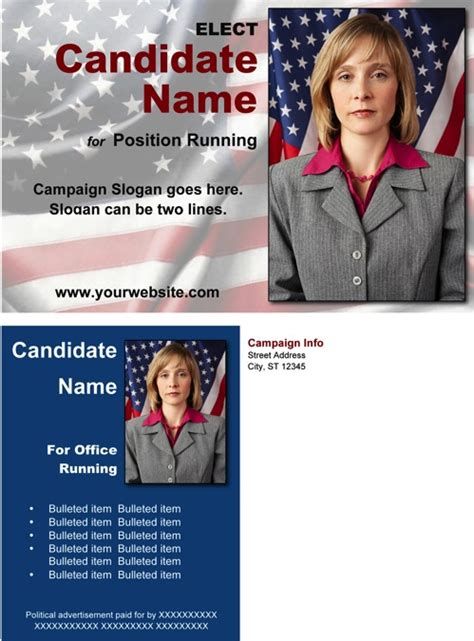 Political Postcard Template