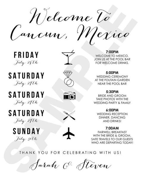 1000 Ideas About Wedding Weekend Itinerary On Pinterest Wedding Weekend Destination Wedding Destination Wedding Schedule Of Events Template