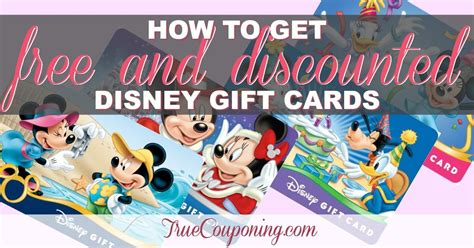 Discounted Disney Gift Card - how to get free and discounted disney gift cards for your vacation