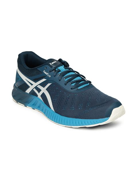 asics blue fuzex lyte running shoes price myntra