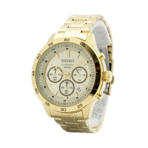Jam Tangan Pria Seiko Cronograph jual seiko chronograph sks526p1 jam tangan pria gold