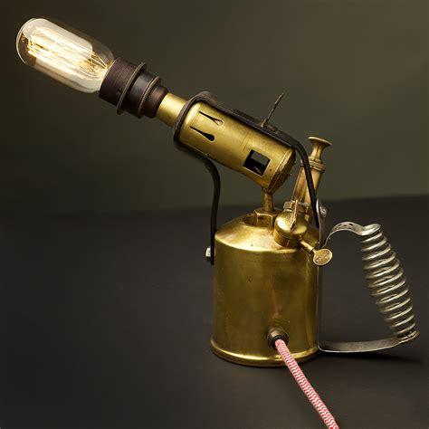 Home Decor Ltd brass paraffin blow lamp desk light