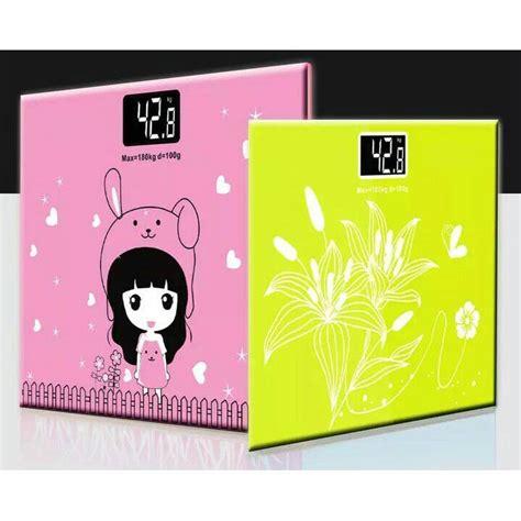 Timbangan Berat Badan Warna Pink timbangan badan mini digital desain kartun 180kg