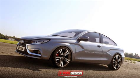 Lada Coupe Why Not New Lada Vesta Coupe Concept Rendering