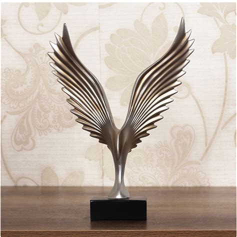 statue home decor online get cheap wing sculpture aliexpress com alibaba