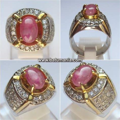 Batu Permata Blue Sapphire Cincin Silver 925 Lapis Emas Putih cincin batu pink sapphire safir burma jewelry