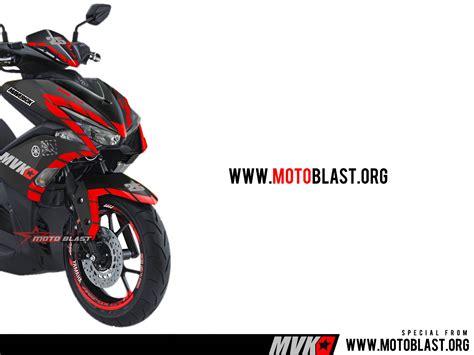 Hodie Motogp Yamaha Mvk25 modifikasi striping motor yamaha aerox 155vva black matte mvk25 maverick vinales pratest musim